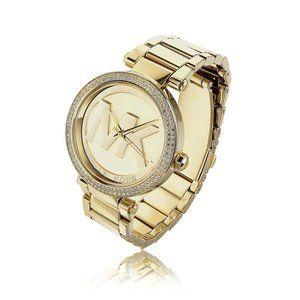 Michael Kors Gold-Tone Glitz Parker Watch MK5784